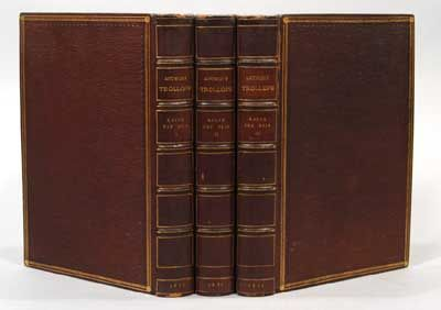 1871. TROLLOPE, Anthony. RALPH THE HEIR. In three volumes. London: Hurst and Blackett, 1871. First e...
