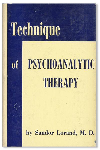 New York: International Universities Press, . Fourth (1961) Printing. Octavo (22cm.); publisher's cl...
