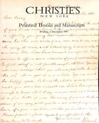 Sale 8792, 5 Dec. 1997: Printed Books and MSS, incl. Americana and Holiday  Selections.