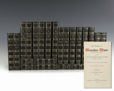 London: Bickers & Son, 1883. Finely bound set of the works of Jonathan Swift, with notes and a life ...