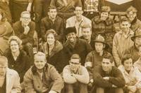 [Panoramic Photograph, caption title]: The Faculty and Students of Antioch College, Yellow Springs, Ohio. Oct 23rd 1962