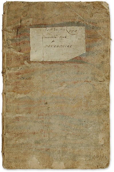 1714. Pre-Publication Manuscript Copy of the Devonshire Chapter of the Domesday Book . . No. 23. V 1...