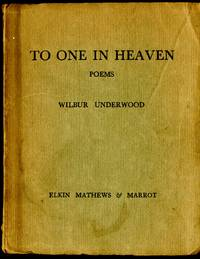 To One in Heaven: Poems