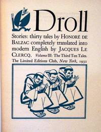 DROLL STORIES by  Honore de BALZAC - Hardcover - Signed - 1932 - from Charles Agvent and Biblio.com