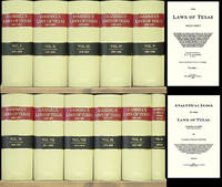 The Laws of Texas [Gammel's] 1822-1897. 10 Volumes & Index. 11 books