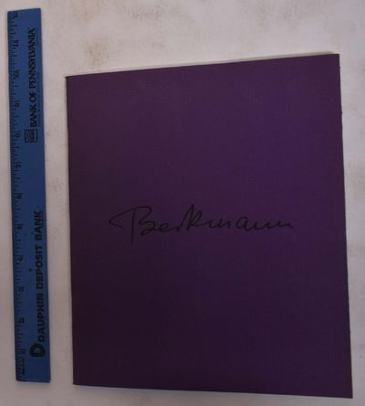 New York: Grace Borgenicht Gallery, 1985. Softcover. VG. Purple wraps with black lettering. 24 pp. M...