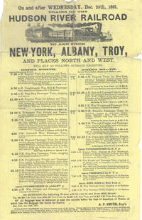 On and After Wednesday, Dec. 25th, 1861, Trains on the Hudson River Railroad To and From New-York, Albany, Troy, and Places North and West ....  Timetable