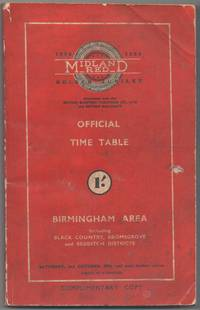 image of Midland Red Official Time Table Birmingham Area Including Black Country, Bromsgrove and Redditch Districts Saturday, 2nd October 1954 and until further notice
