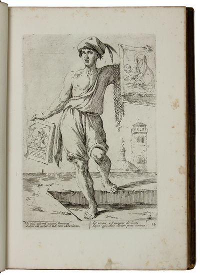 Folio , title view of Bologna and 41 numbered plates. Bound in 18th-century German marbled calf, ric...