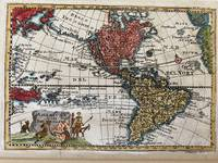 Map of North and South America showing California as an Island. Map of the Americas, 1738