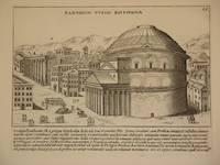 Pantheon Vulgo Rotonda (The Pantheon. Rome): Original Engraving by Domenico De Rossi (after Giacomo Lauro). Plate 13 from Collectio Antiquitatum Urbis : Una Cum Alijs Recentioribus