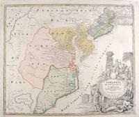 Virginia, Marylandia et Carolina in America Septentrionali Britannorum..