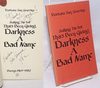np: Self-published by the author, 1982. Paperback. 58p., 5.5 x 8.25 inches, signed and inscribed by ...