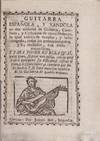 View Image 2 of 2 for Guitarra espanola, y v`andola en dos maneras de guitarra, castellana, y cathalana de cinco ordenes l... Inventory #1180