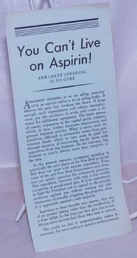 image of You can't live on Aspirin! Armament spending is no cure