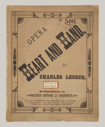 Boston: Oliver Ditson, 1883. Quarto. Original publisher's decorative brown wrappers with titling to ...