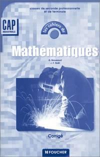 Mathématiques  CAP industriels : Corrigé