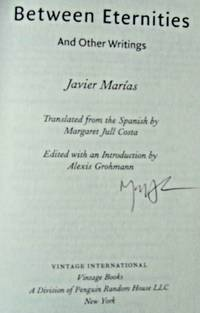 Between Eternities And Other Writings (SIGNED)