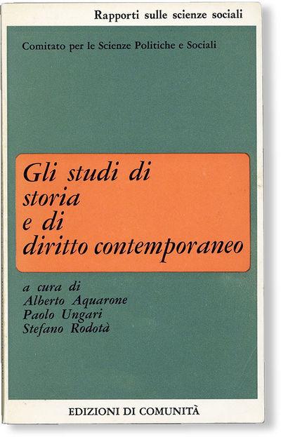 : Edizioni di Comunità, . First Edition. 12mo (18cm.); publisher's decorative card wrappers; 158pp....