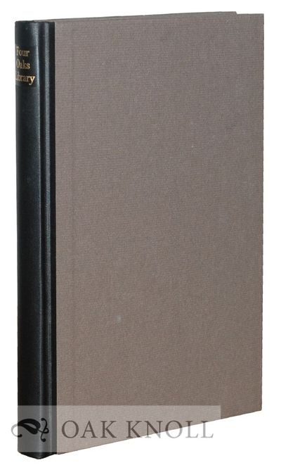 Somerville: Privately printed, 1967. quarter cloth, paper-covered boards. Hyde, Donald and Mary. 8vo...