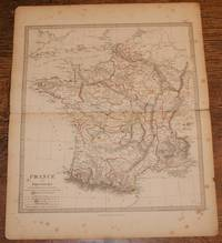 """Map of France in Provinces - disbound sheet from 1857 """"University Atlas"""