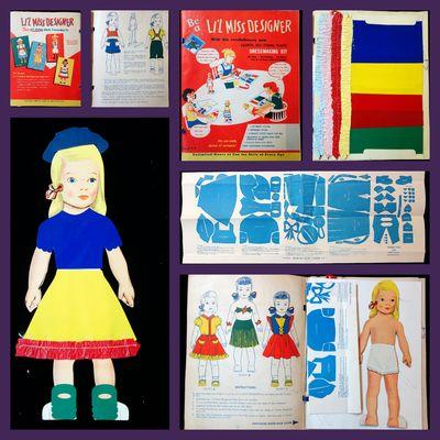 Brooklyn: Neptune Plastics, Inc., c1960. An unused large format book titled Be a Li'l Miss Designer ...