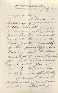 "Autograph letter signed (""F.B. Sanborn"") to Francis William Bird (""My dear Friend"")"