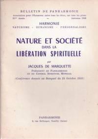 BULLETIN DE PANHARMONIE du 01/10/1958 -NATURE ET SOCIETE DANS LA LIBERATION SPIRITUELLE PAR...