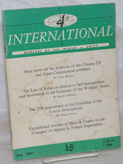 Rome: International Executive Committee of the Fourth International, 1964. Magazine. One issue, 7.5x...
