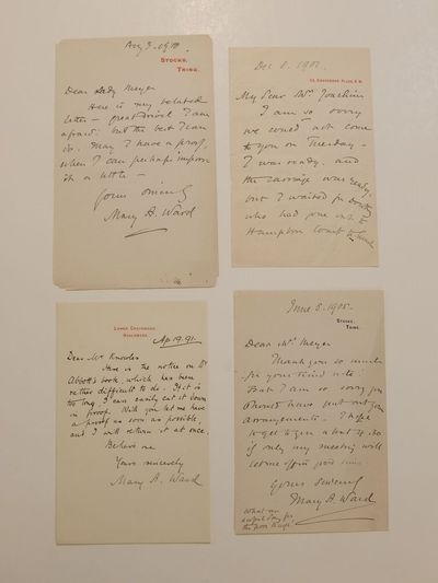 unbound. very good. Group of four A.L.S.'s, 8vo. (1891-1910), various topics including, in part: Apr...