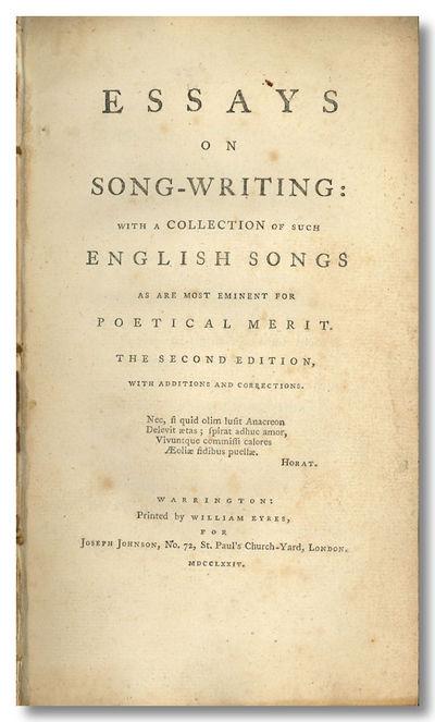 Warrington: Printed by William Eyres, 1774. xix,,286pp. Octavo. Disbound, but sewing still sound. Li...