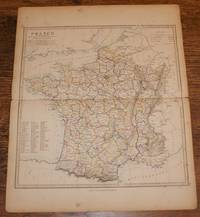 "Map of France in Departments - disbound sheet from 1857 ""University Atlas by Edward Stanford - Paperback - First Edition - 1857 - from Bailgate Books Ltd and Biblio.com"