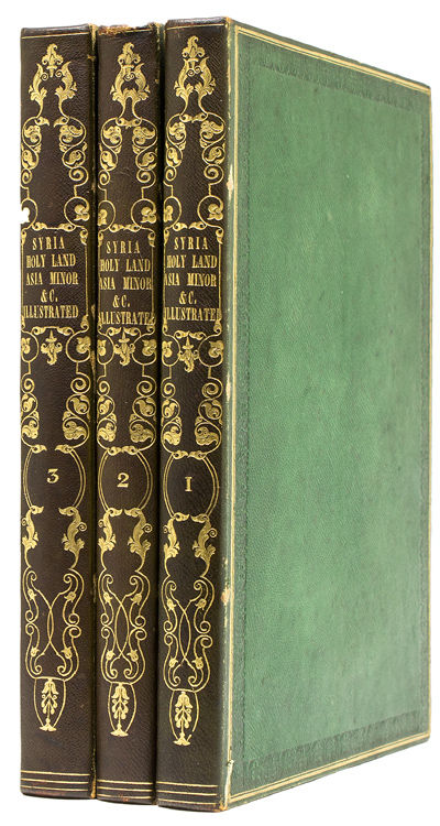 London, Paris, & America: Fisher, Son, & Co, 1836. First edition. 3 engraved titles, 2 engraved maps...