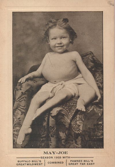 Mifflin, Ohio. 1909. Cabinet Card. Photo-mechanical cabinet card (6 1/2 x 4 1/2 inches) of May-Joe f...