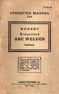 image of Operating Manual for Hobart Simplified Arc Welder