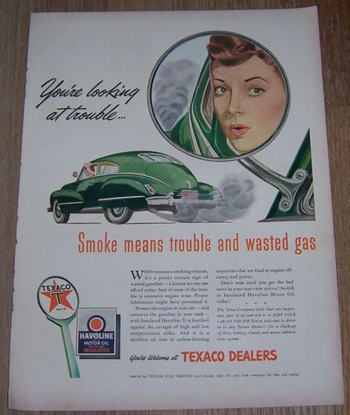 1943 WORLD WAR II TEXACO MAGAZINE ADVERTISEMENT, Advertisement