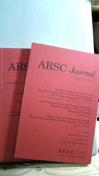 ARSC Journal Vol. 38 Nos 1 and 2 Spring/Fall 2007 by  Barry R. [editor] ASHPOLE - First - 2007 - from Horizon Books (SKU: 63378)
