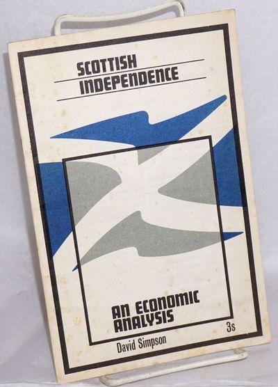 West Calder, Midlothian: SNP Publications, 1969. Pamphlet. 16p., 5.5x8.5 inches, introduction, table...