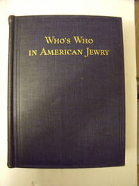 Who's Who in American Jewry Volume 3 1938-1939 by  John (editor) Simons - Hardcover - 1938 - from Charity Bookstall and Biblio.com