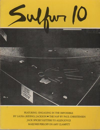 Los Angeles: Sulfur, 1984. First Edition. Wraps. Near fine. 8vo. Photographic wraps. Very good plus ...