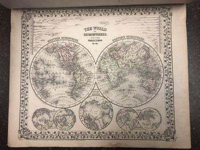 Philadelphia: S. Augustus Mitchell, 1871. Hardcover. Folio, unpaginated; VG-; newly rebacked with br...