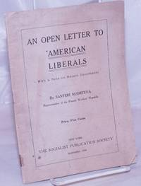 image of An open letter to American liberals, with a note on recent documents