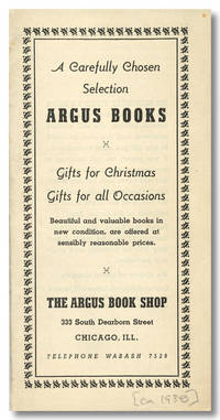 [Lot of Twelve Catalogues from the Argus Book Shop]