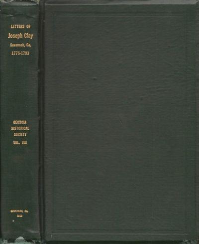Savannah: The Morning News Printers and Binders Savannah, Ga, 1913. First Edition. Hardcover. Good +...
