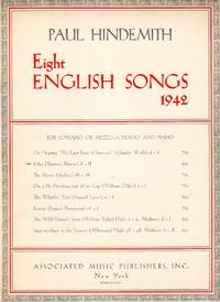 image of Echo (from Eight English Songs, 1942) - for Soprano or Mezzo-Soprano and Piano [FULL SCORE]