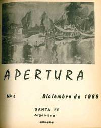 Apertura. Revista Literaria. No. 1 (July 1965) through No. 13 (December 1972) (all published?)
