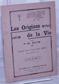 image of Les Origines de la Vie.  Conférence faite au Cercle Civique Berthelot (Septembre 1912)