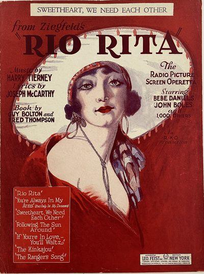 Feist Building, New York: Leo. Feist, Inc, 1929. Ephemera no binding. Very good. Harry Tierney, musi...