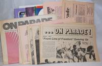 On Parade! the newspaper of the Lesbian/Gay Freedom Day Parade & Celebration [17 issue broken run]