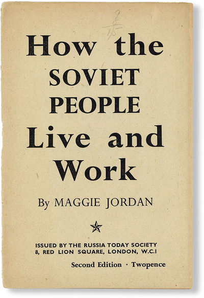 London: Russia Today Society, n.d., ca. 1940. Second Edition. 12mo (18.5cm.); printed staplebound se...